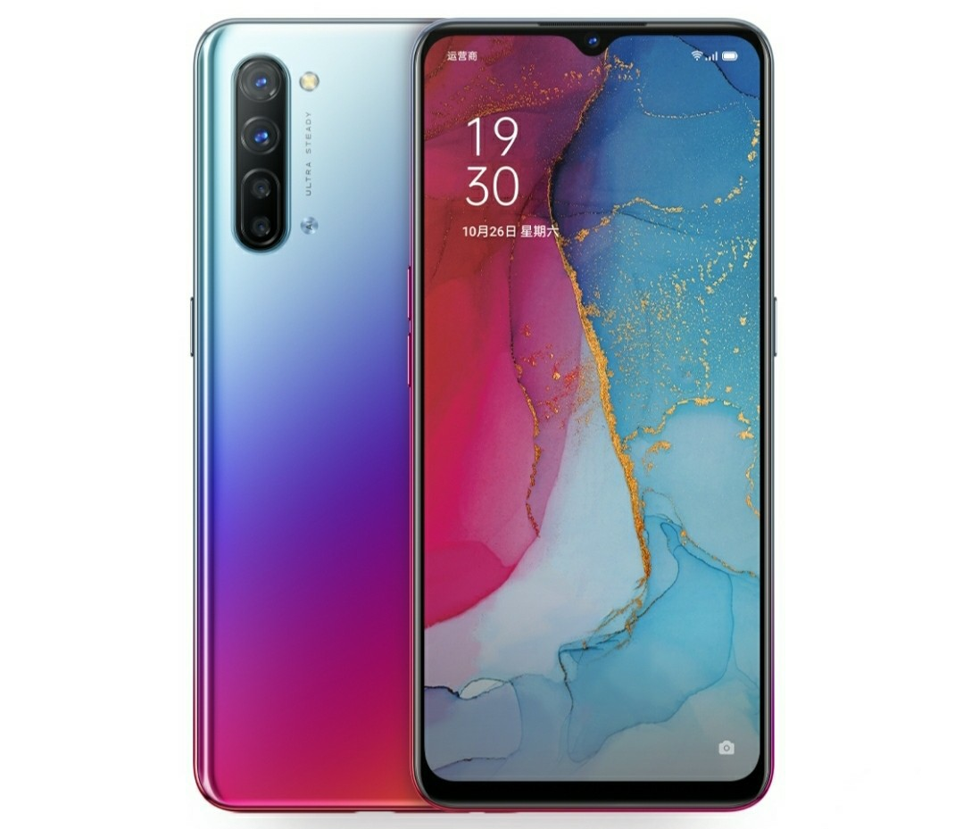 oppo reno 3 blue red