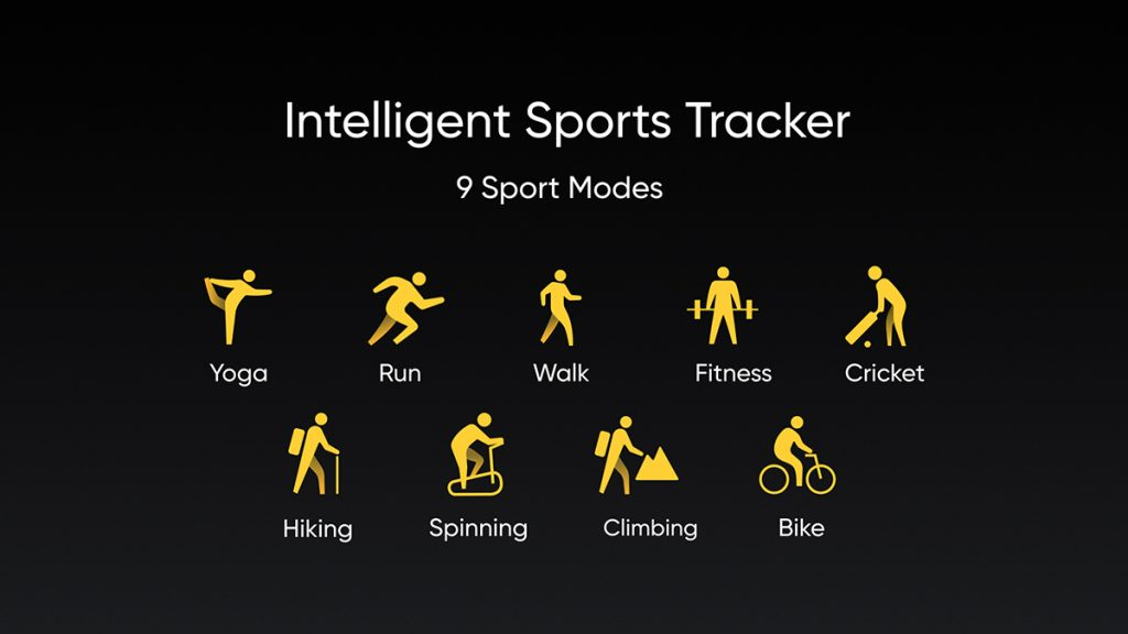 realme band sports activities