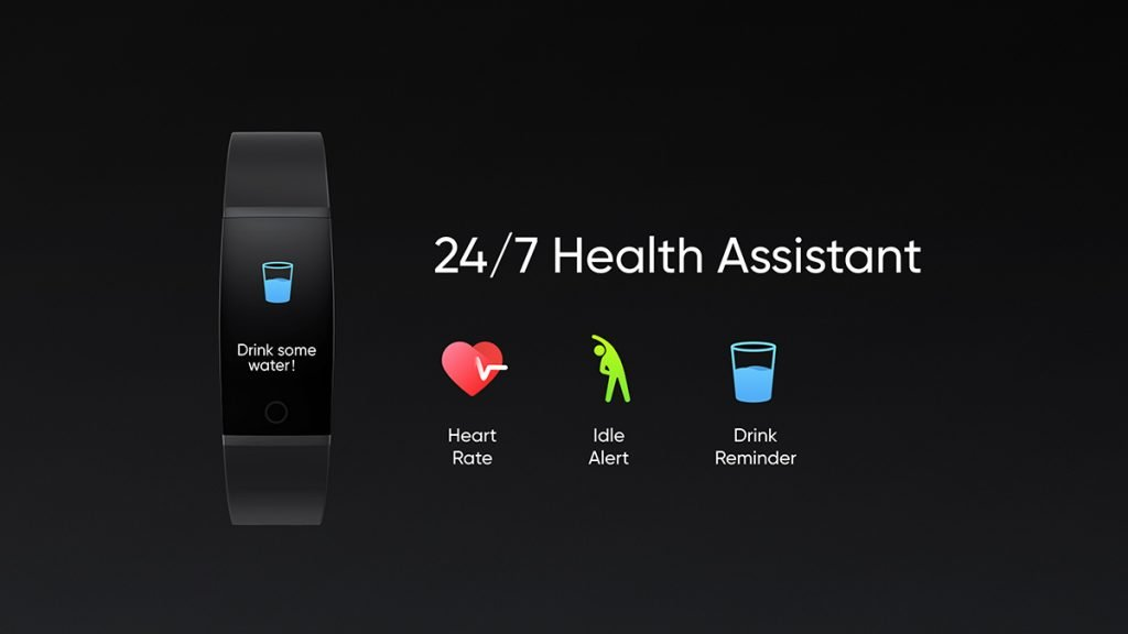 realme band health assistant