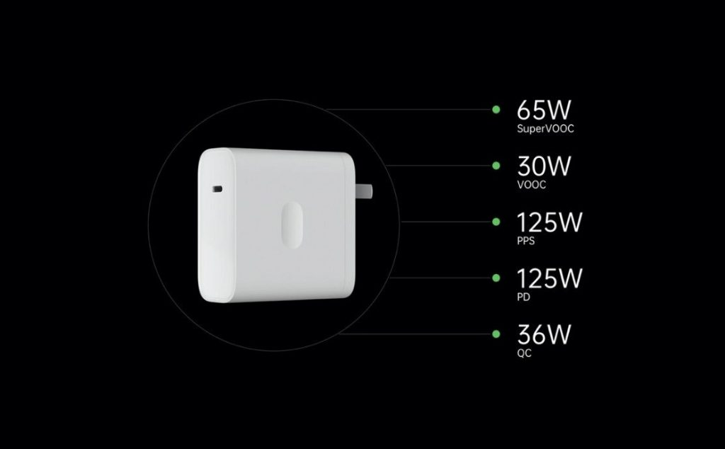 oppo flash charge vooc 125w